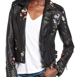 NWOT Blank NYC Floral Moto jacket small